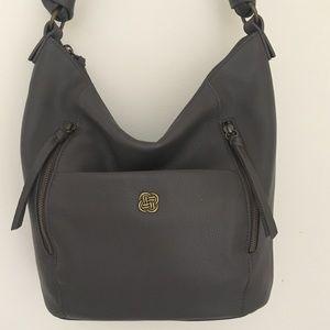 EUC Elliott Lucca Leather Hobo Slate Gray Bag